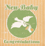 Matchbook New Baby Congratulations Card