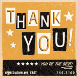 Matchbook Thank You Card