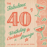 Matchbook 40th Birthday Card for Her