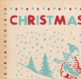 Matchbook Christmas Card, Skaters