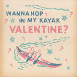 Matchbook Kayak Valentines Card