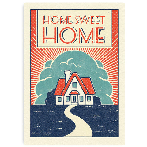 Matchbook A4 Print Home Sweet Pennychoo