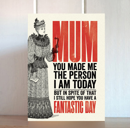 Modern Life is Rubbish: Fantastic Day Card for Mum