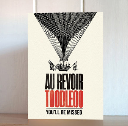 Modern Life is Rubbish: Au Revoir Leaving Card