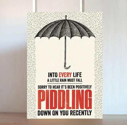 Modern Life is Rubbish: Umbrella Sympathy Card