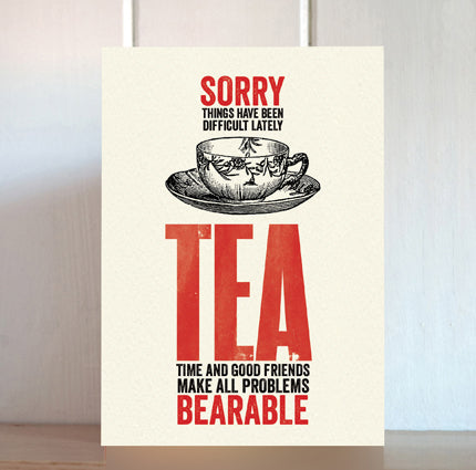 Modern Life is Rubbish: Tea and Sympathy Card