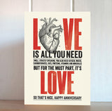 Modern Life is Rubbish: Heart Anniversary Card