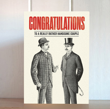 Modern Life is Rubbish: Handsome Couple Wedding Card