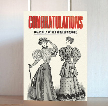 Modern Life is Rubbish: Gorgeous Couple Wedding Card