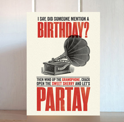 Modern Life is Rubbish: Partay Birthday Card