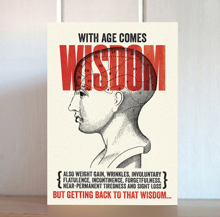 Modern Life is Rubbish: Wisdom Birthday Card