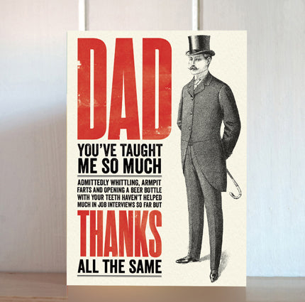 Modern Life is Rubbish: Thanks Anyway Card for Dad