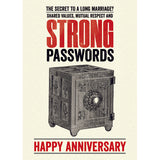 Modern Life is Rubbish: Passwords Anniversary Card