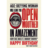 Modern Life is Rubbish: Open Mouthed Birthday Card