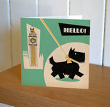Scottie Dog Hello! Greetings Card