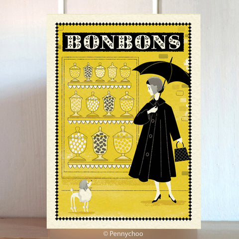 Paris Shopping Card: Bonbons