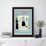 Parisian Print, Framed: La Mode