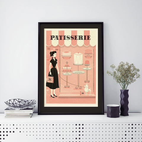 Parisian Print, Framed: Patisserie