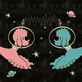 Poodles In Space Greetings Card