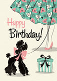 Poodle Skirt Birthday Card