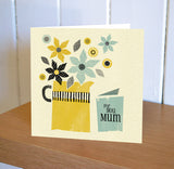 Primavera – Flower Jug for Mum Card, Yellow