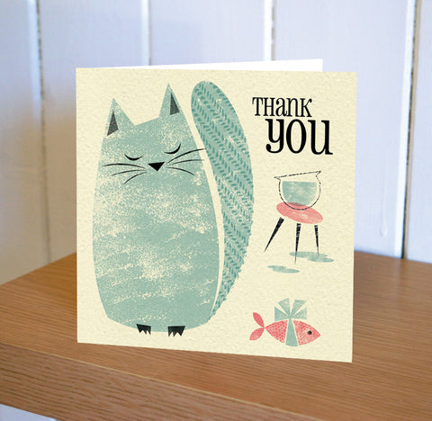 Primavera – Blue Cat Thank You Card