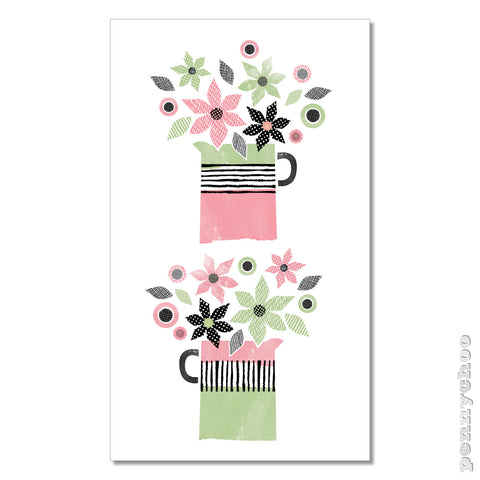 Primavera Tea Towel: Flower Jugs