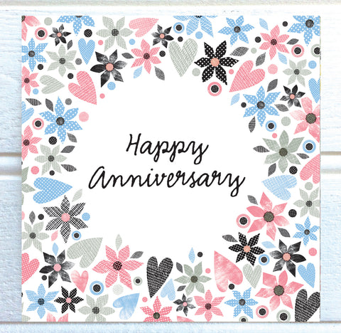 Fiore Wedding Anniversary Card