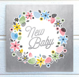 Fiore Luxurious Foiled New Baby Card