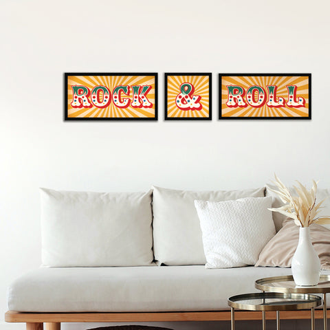Rock & Roll Framed Prints, Set of Three