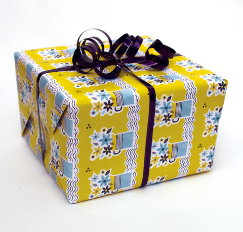 2  x Sheets of Wrapping Paper: Flower Jugs *NOW £2*