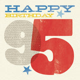 Woodblock 95th Birthday Card