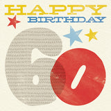 Woodblock 60th Birthday Card