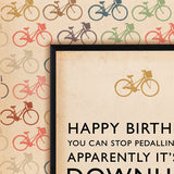 Wooster 'Downhill' Birthday Card