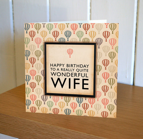 Wooster Wife Birthday Card