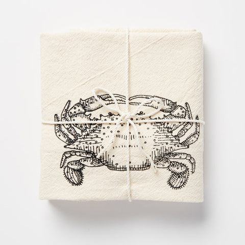 Crab Flour Sack Towel