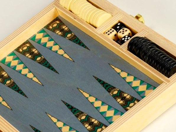 Deco Teal Backgammon Set