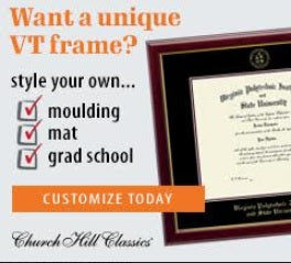 Church Hill Frames Custom Virginia Tech Diploma Frames