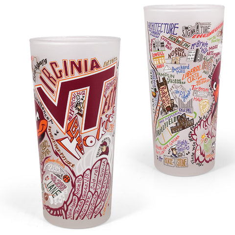Virginia Tech Landmarks Art Frosted Glass