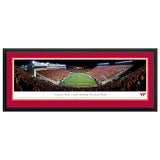 Virginia Tech Lane Stadium Endzone Panoramic Print Deluxe Frame