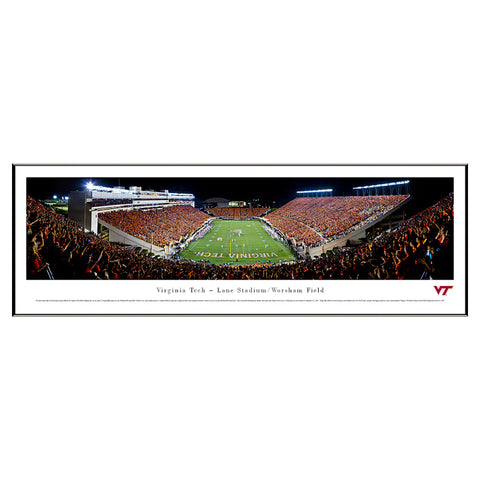 Virginia Tech Lane Stadium Endzone Panoramic Print Standard Frame