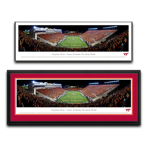 Virginia Tech Lane Stadium Endzone Panoramic Print