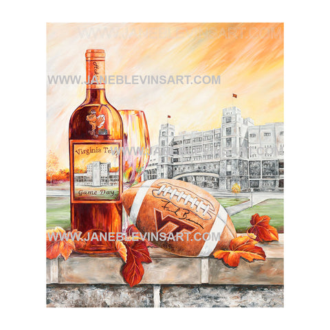 "Virginia Tech ""Game Day"" Print by Jane Blevins"