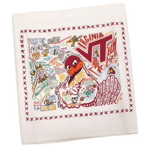 Virginia Tech Landmarks Dish Towel