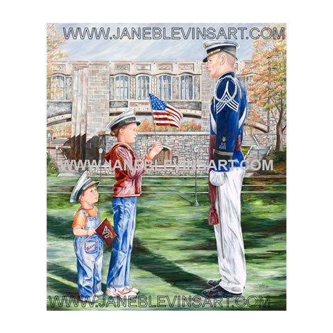 "Virginia Tech ""That I May Serve"" Print by Jane Blevins"