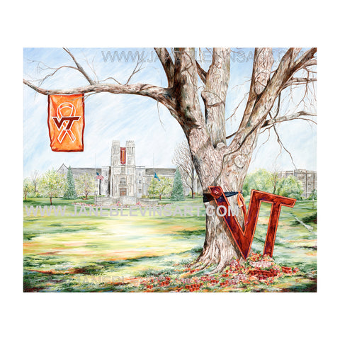 "Virginia Tech ""Hokie Nation"" Print by Jane Blevins"
