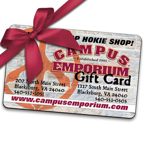In-Store Gift Card for Campus Emporium (Requires Shipping)