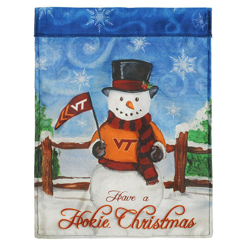 Virginia Tech Hokie Christmas Garden Flag