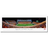 Virginia Tech Lane Stadium Orange Effect Panoramic Print Unframed