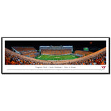 Virginia Tech Lane Stadium Orange Effect Panoramic Print Standard Frame